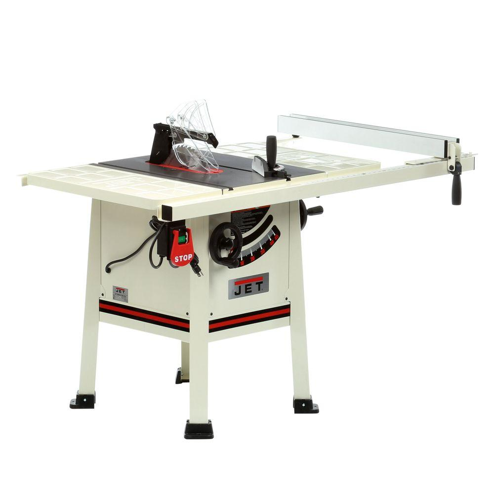 JET 10 in. 15-Amp Professional Tablesaw-708492K - The Home Depot