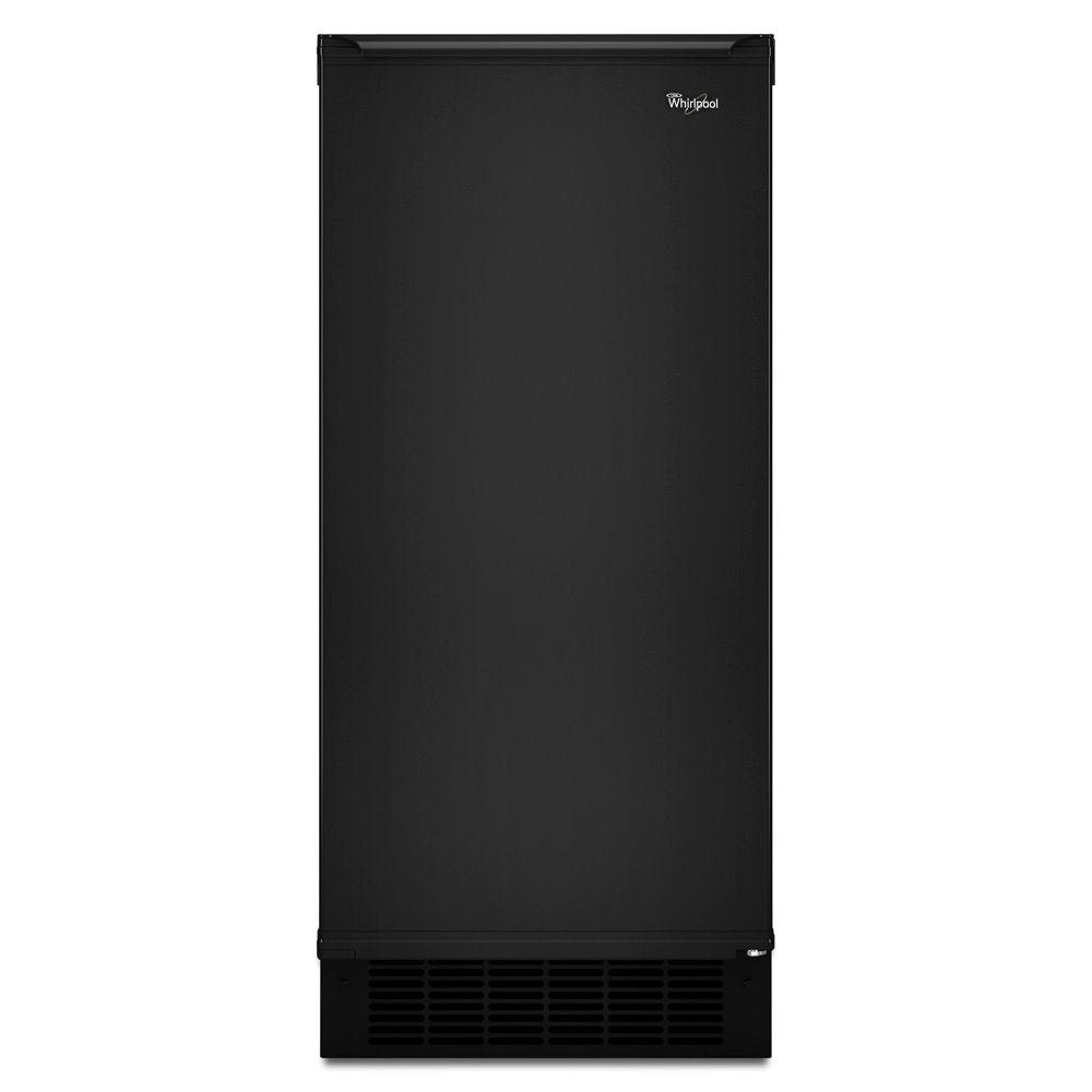 Whirlpool 15 in. 50 lb. Freestanding or Built-In Ice Maker in Black