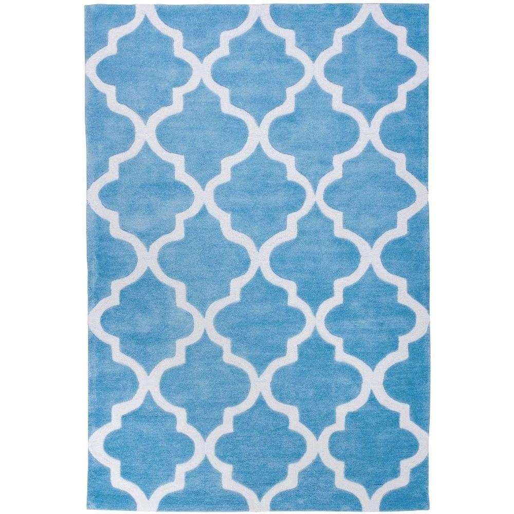 Well Woven Mirage Lattice Light Blue 5 ft. x 7 ft. 6 in. Modern Area Rug