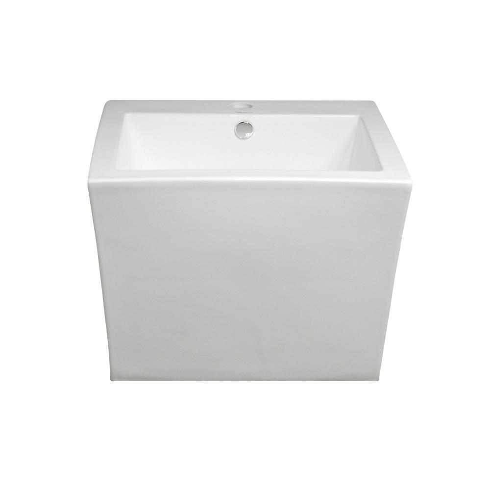 Isabella 19-1/2 in. Wall Mounted Bathroom Sink in White