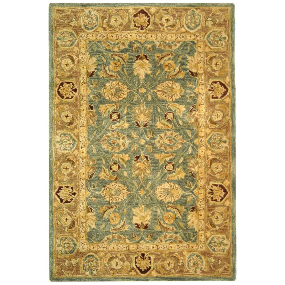 Anatolia Blue/Brown 5 ft. x 8 ft. Area Rug