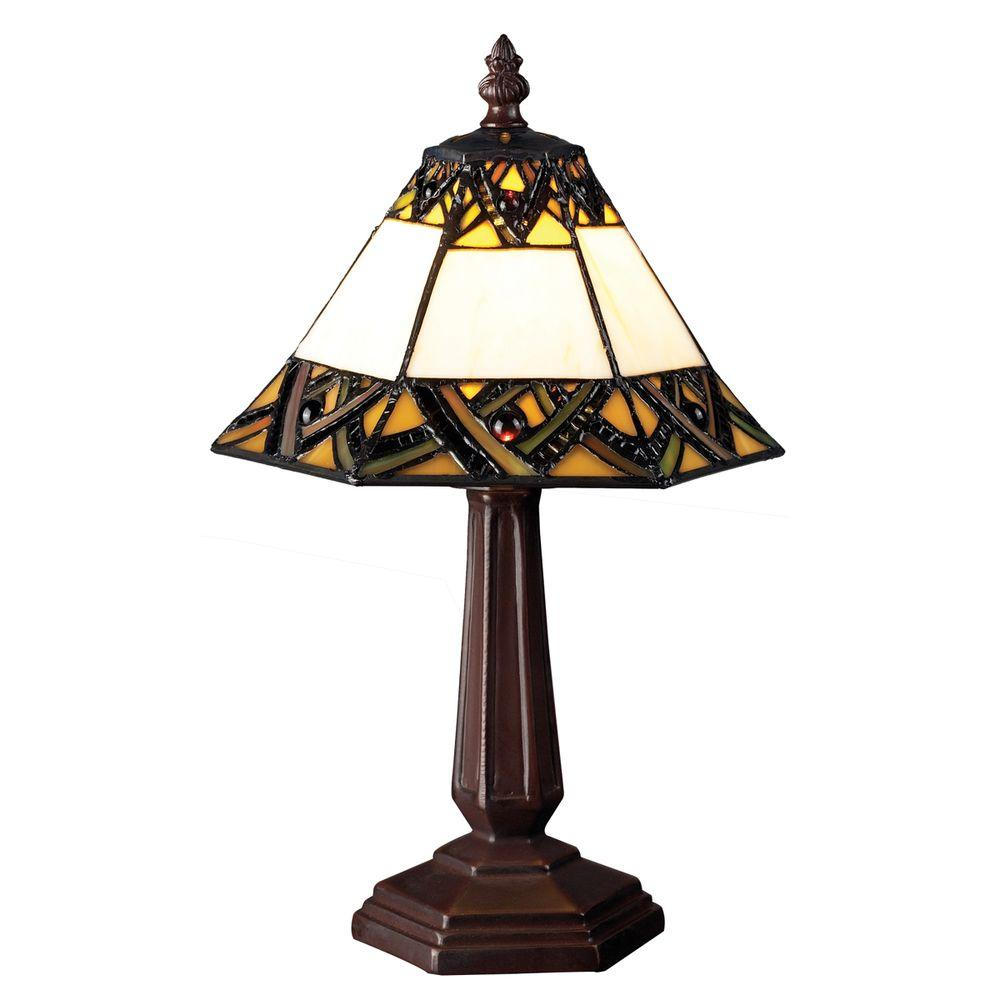 Tulen Lawrence 14 in. Chestnut Bronze Incandescent Table Lamp-DISCONTINUED