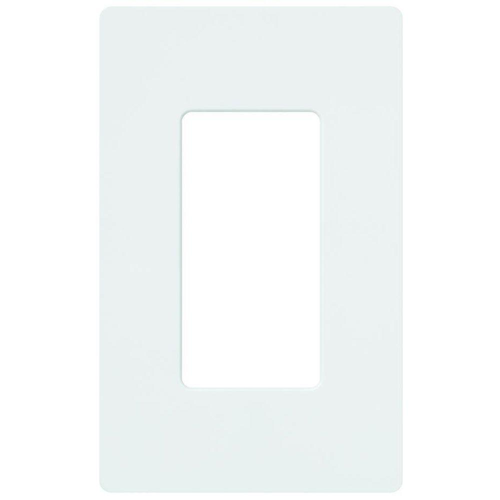 Claro 1 Gang Wall Plate - White