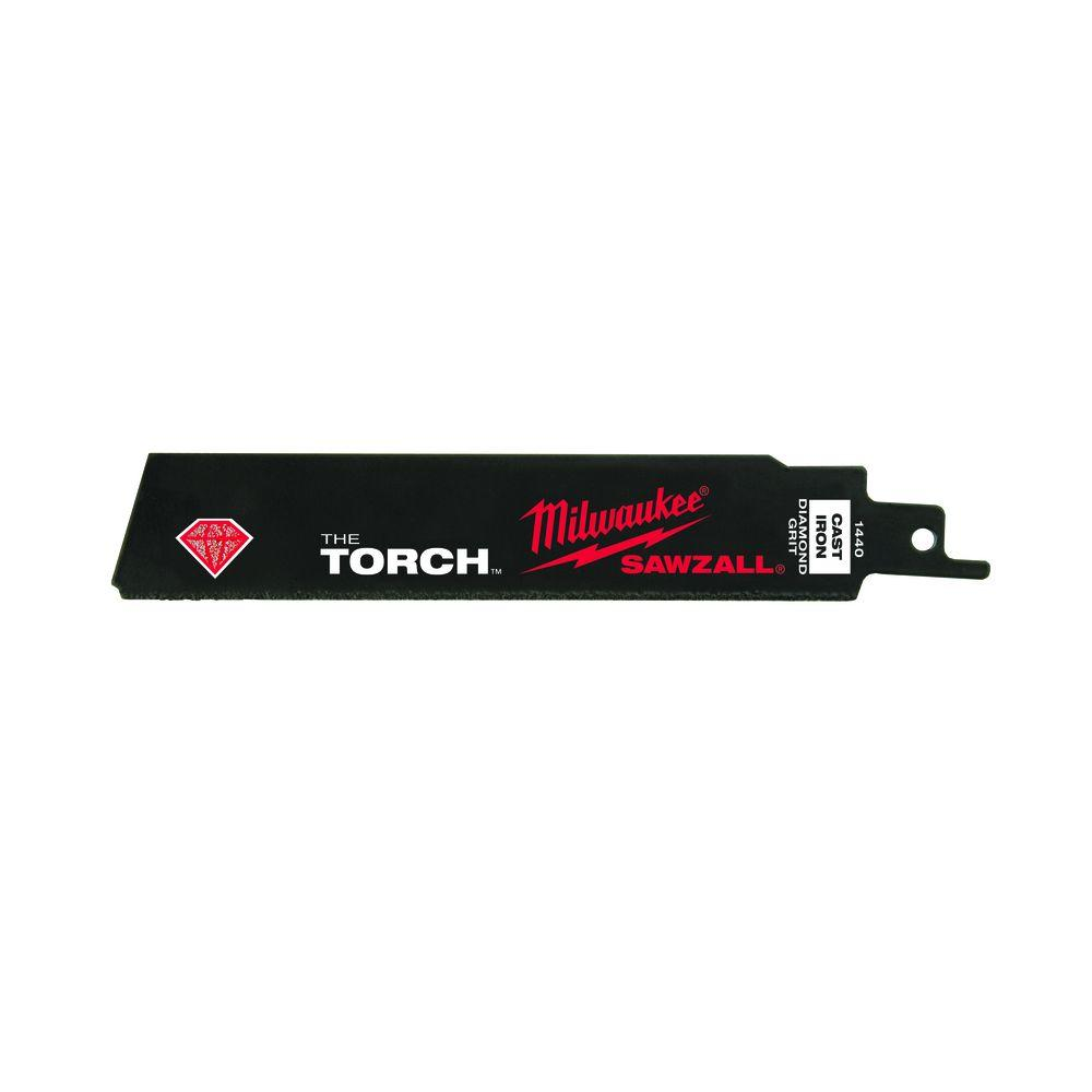 Milwaukee 6 in. Diamond-Grit Torch Sawzall Reciprocating Saw Blade-48-00-1440 -