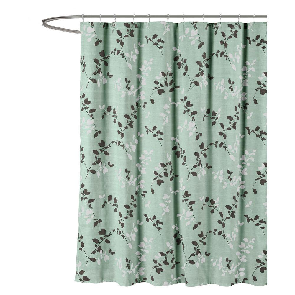 Creative Home Ideas Meridian Printed Cotton Blend 72 In W X 72 In L Soft Fabric Shower Curtain