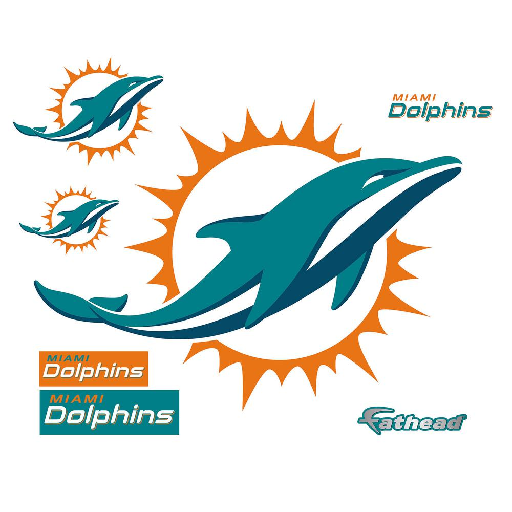 39 in. H x 49 in. W Miami Dolphins Logo Wall