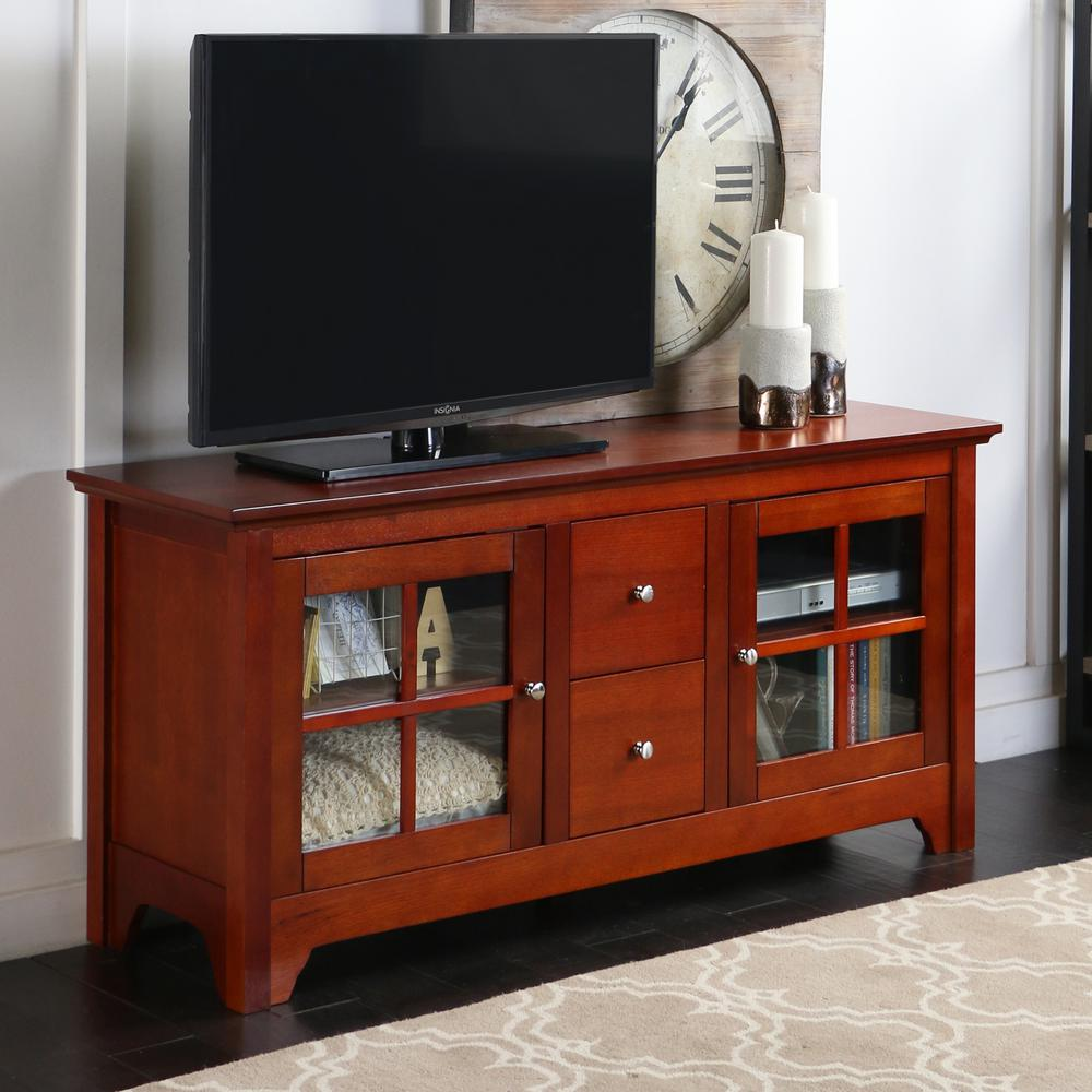 ?Becket 52 in. TV Console in Walnut Brown