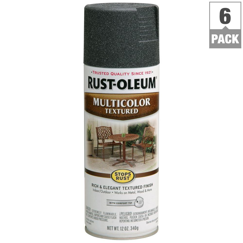 12 oz. Multi-Colored Textured Aged Iron Protective Enamel Spray Paint (6-Pack)