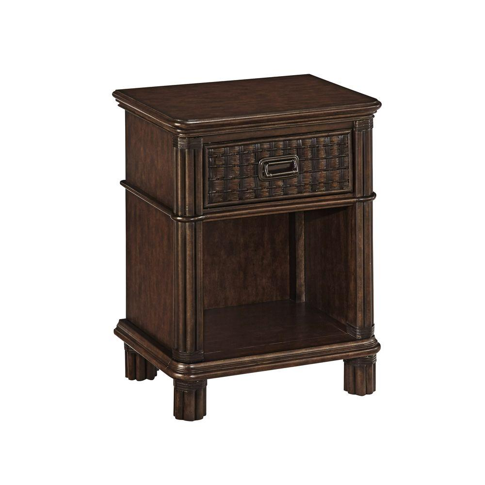 Castaway 1-Drawer Nightstand in Dark Mahogany
