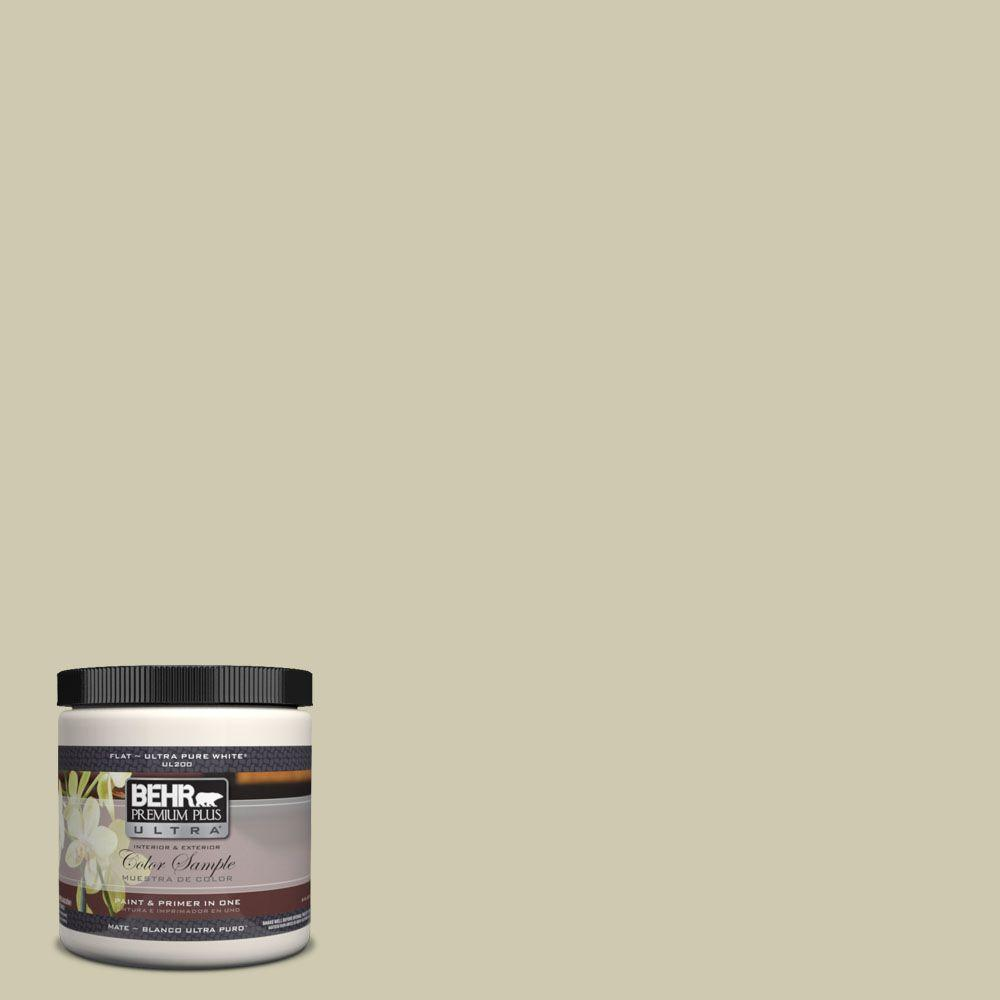 BEHR Premium Plus Ultra 8 oz. #UL200-14 Cilantro Cream Interior/Exterior Paint Sample