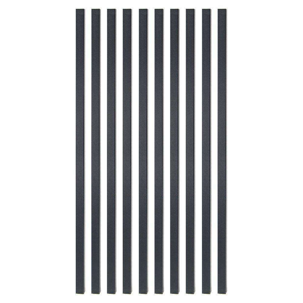 26 in. x 3/4 in. Black Sand Steel Square Deck Railing