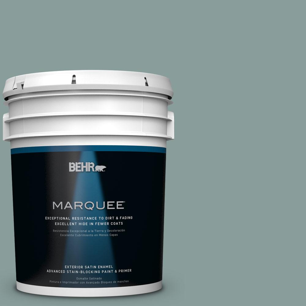 BEHR MARQUEE 5-gal. #PPU12-4 Agave Satin Enamel Exterior Paint