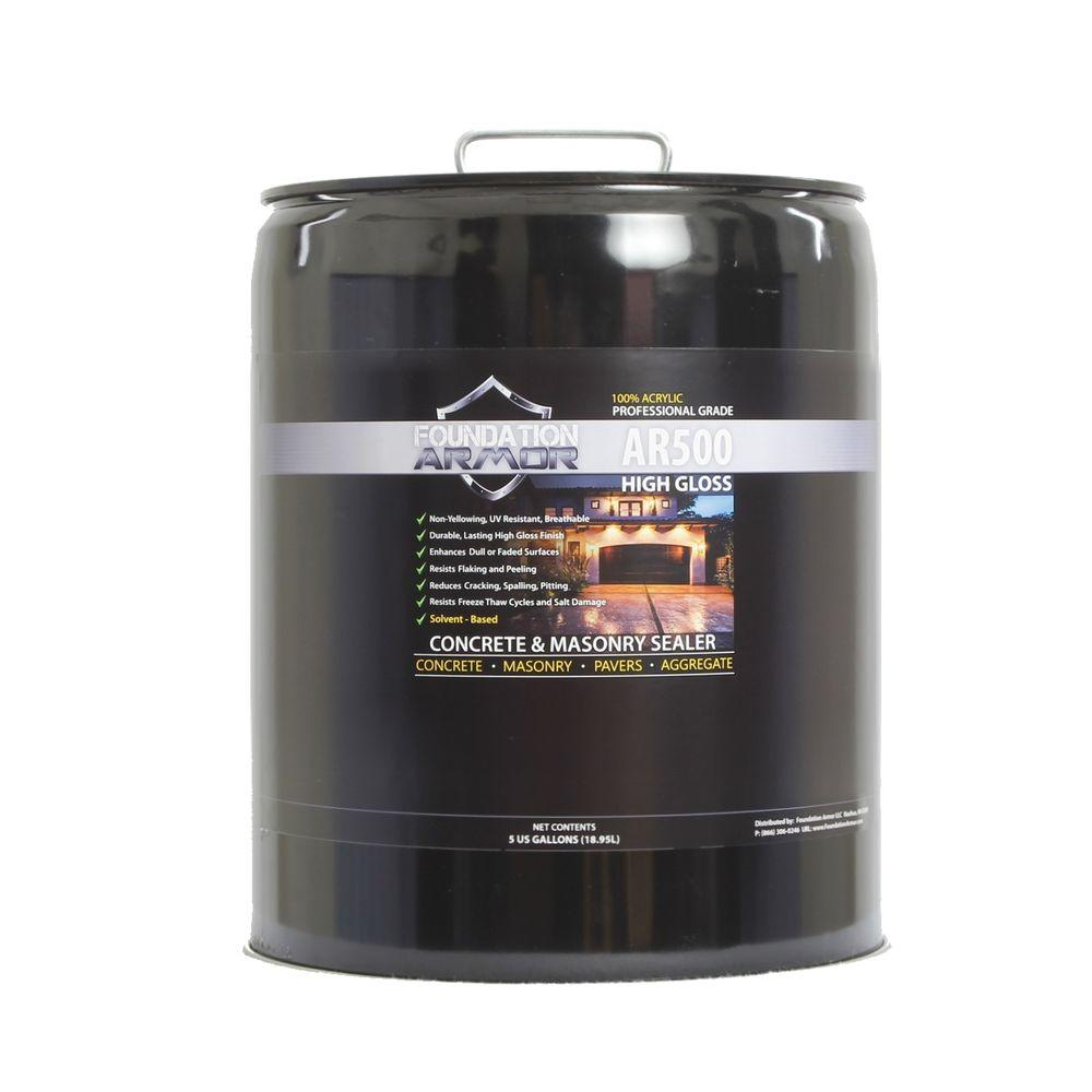 Foundation Armor AR500 5 gal. Clear Wet Look High Gloss Solvent-Based