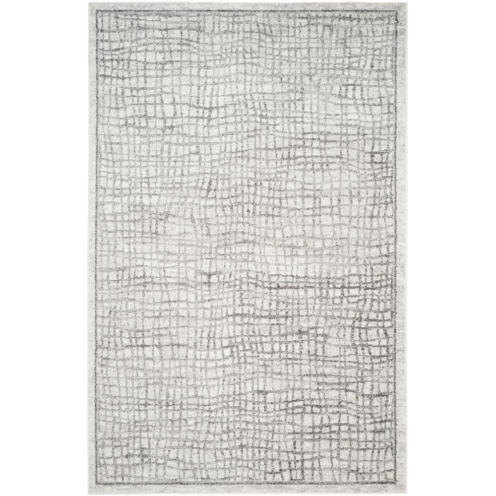 Adirondack Silver/Ivory 6 ft. x 9 ft. Area Rug
