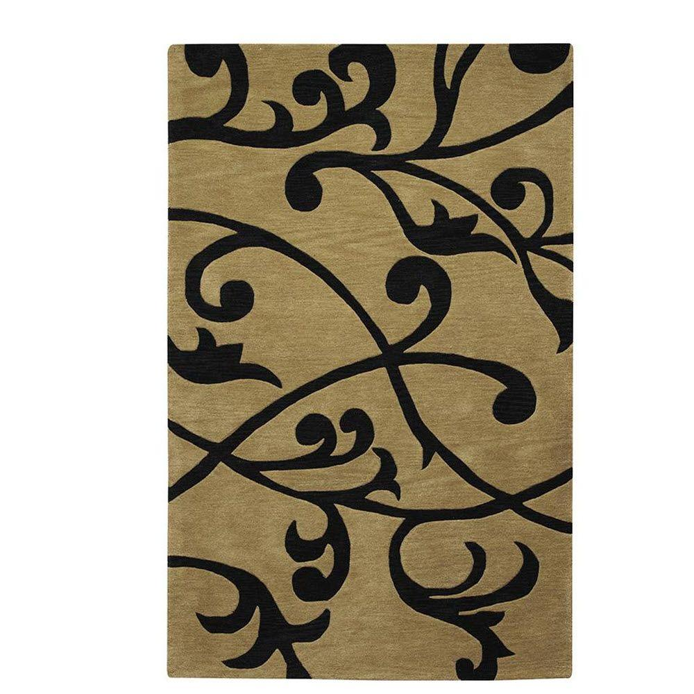 Home Decorators Collection Perpetual Beige/Black 2 ft. 6 in. x 4 ft. 6 in. Area Rug