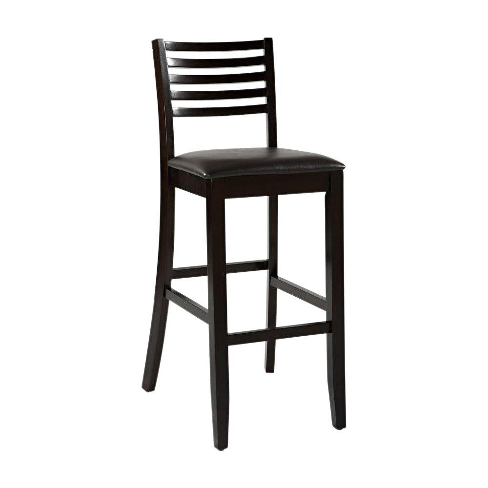 Home decorators collection triena ladder back counter stool 01863esp 01 kd u the home depot Home depot wood bar stools