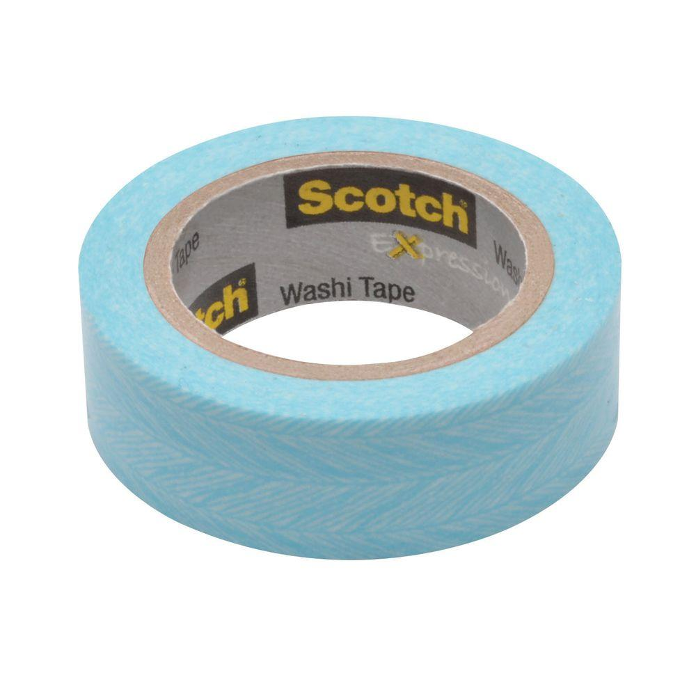3M Scotch 0.59 in. x 10.9 yds. Feather Expressions Washi Tape