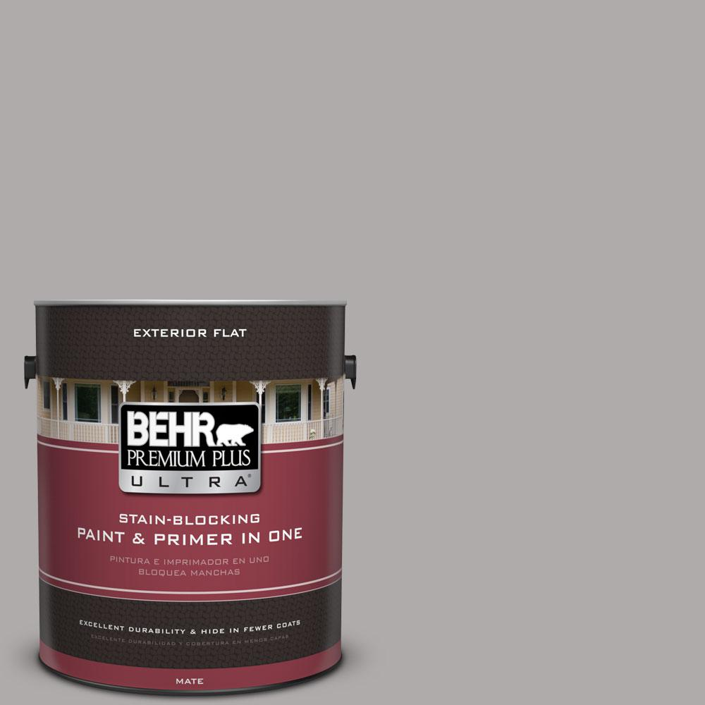 BEHR Premium Plus Ultra 1-Gal. #PPU18-14 Cathedral Gray Flat Exterior