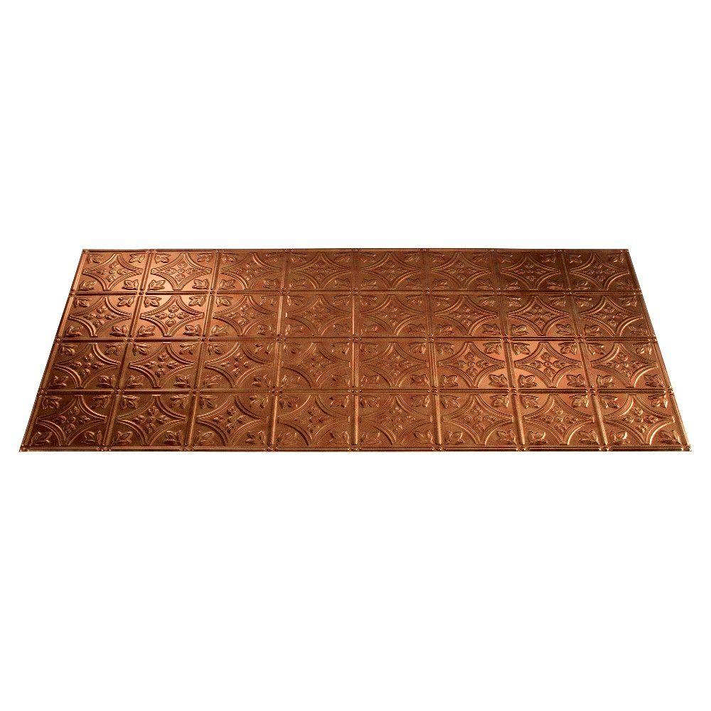 Fasade Traditional 1 2 ft. x 4 ft. Antique Bronze Lay-in Ceiling Tile