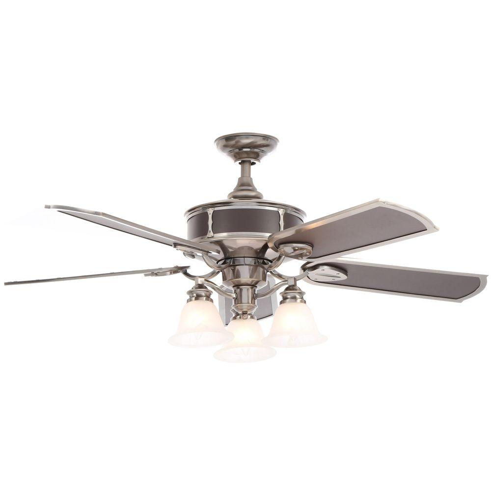 Hampton Bay Preston 52 in. Vintage Pewter Ceiling Fan