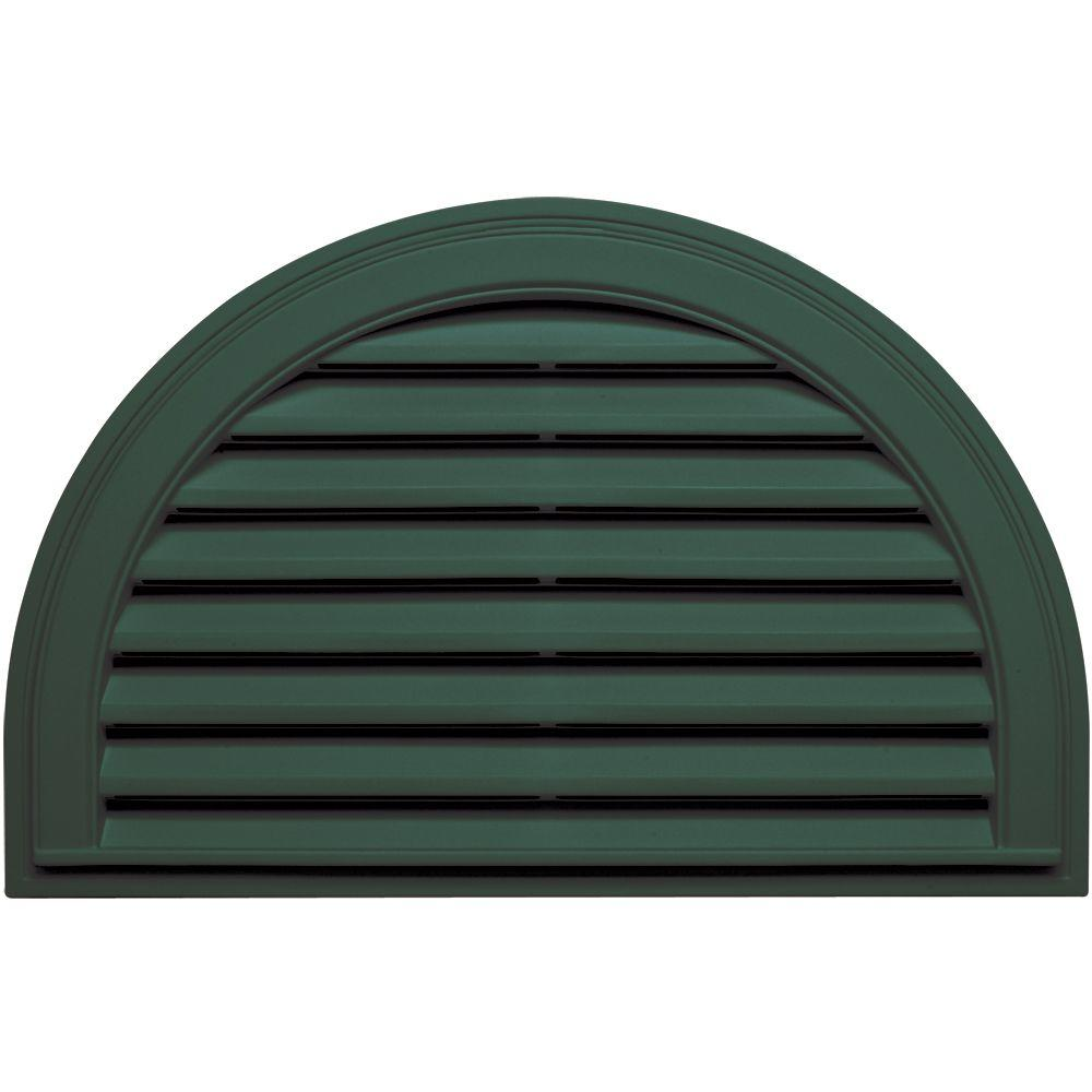 22 in. x 34 in. Half Round Gable Vent in Forest