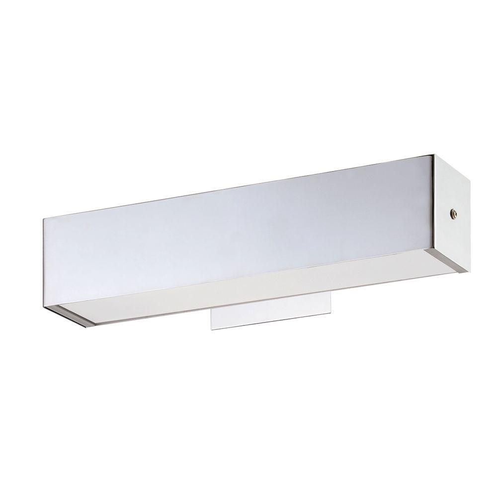 Eurofase Anello Collection 1-Light Chrome Sconce-22988-010 - The Home Depot