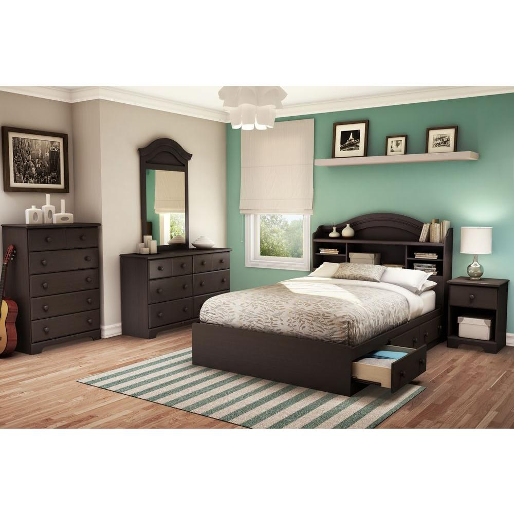 South Shore Summer Breeze Full Storage Bed in Chocolate