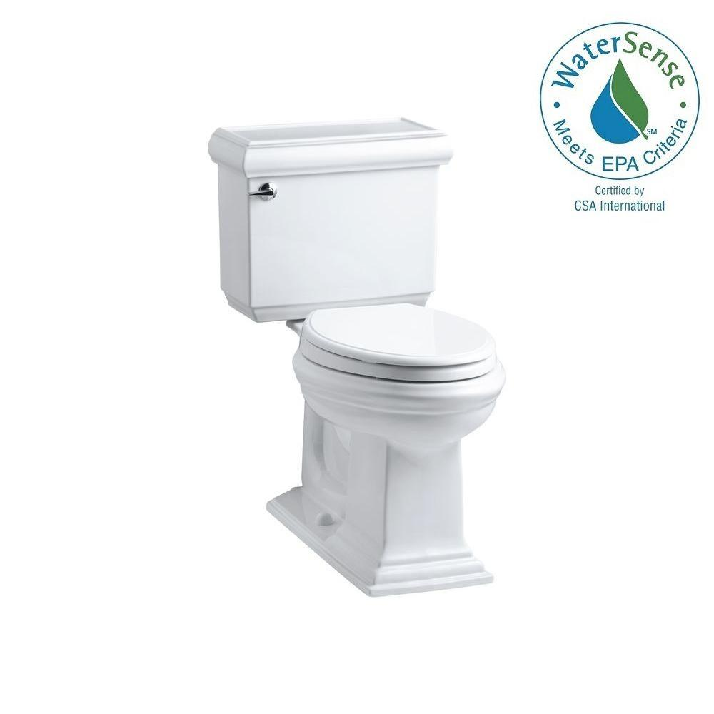 Memoirs Classic Comfort Height 2-piece 1.6 GPF Elongated Toilet with AquaPiston Flush Technology in White