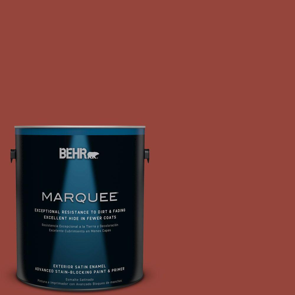 1-gal. #PPU2-17 Morocco Red Satin Enamel Exterior Paint