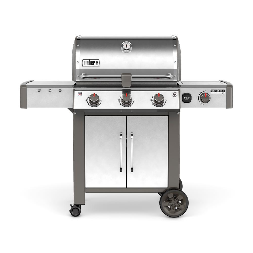 Genesis II LX S-340 3-Burner Natural Gas Grill in Stainless