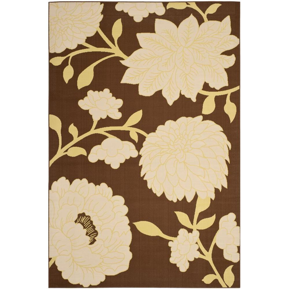 Safavieh Hampton Brown/Ivory 8 ft. x 11 ft. Indoor/Outdoor Area Rug