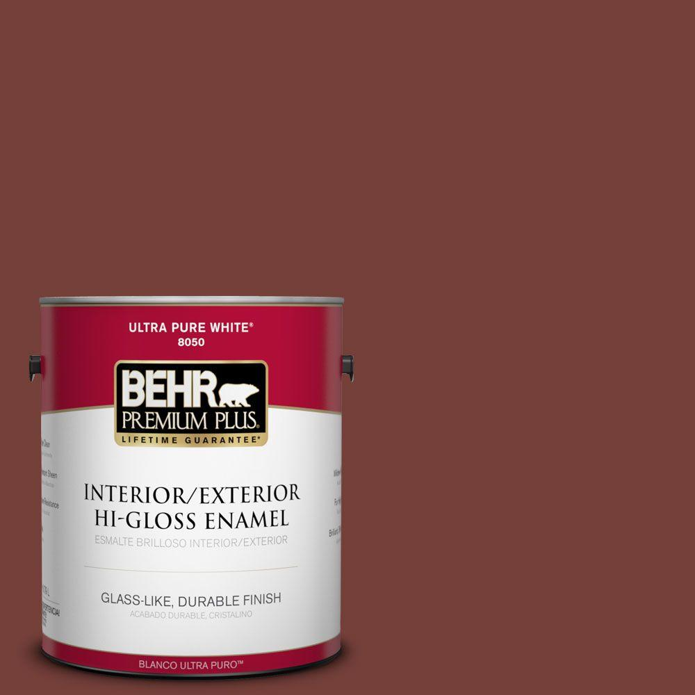 1-gal. #BXC-76 Florence Red Hi-Gloss Enamel Interior/Exterior Paint