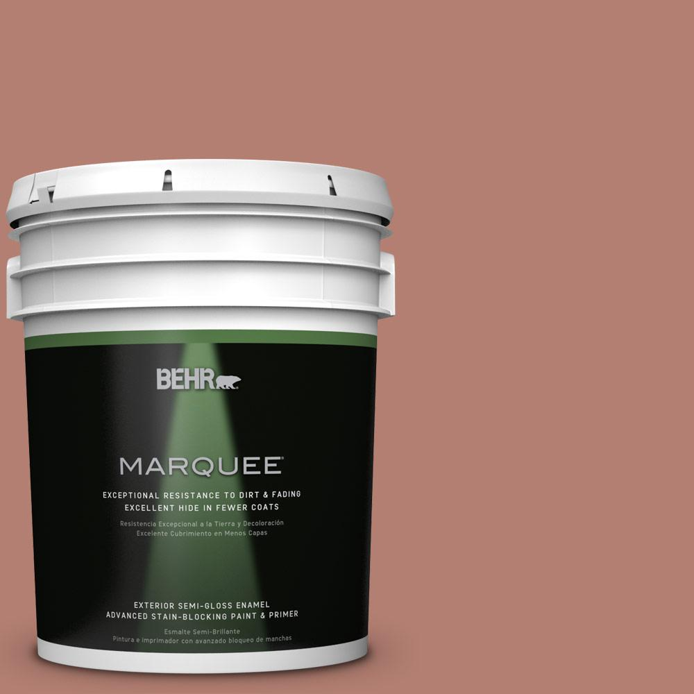 BEHR MARQUEE 5-gal. #ICC-102 Copper Pot Semi-Gloss Enamel Exterior Paint-545405