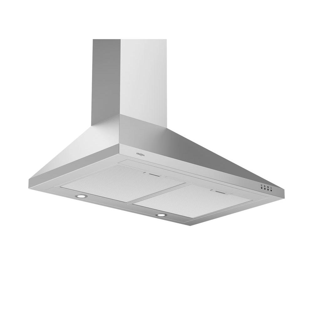 30 in. Wall Mounted Range Hood Pyramid Style in Stainless Steel