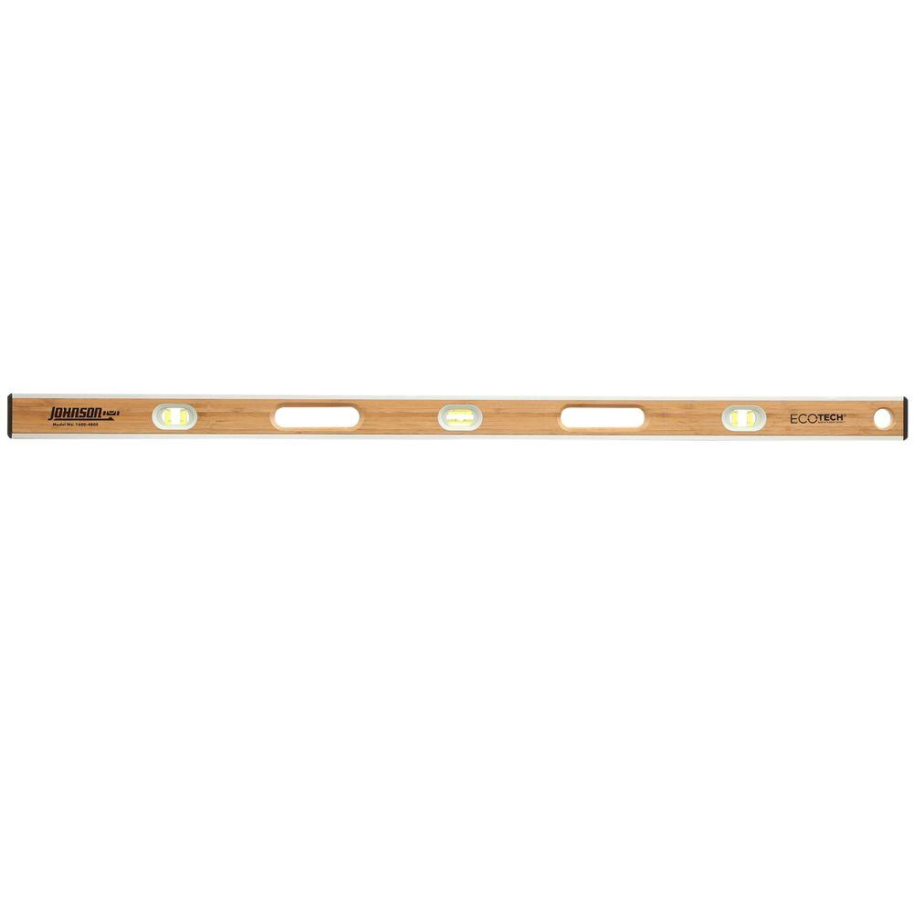 Johnson 48 in. Eco-Tech Bamboo Level