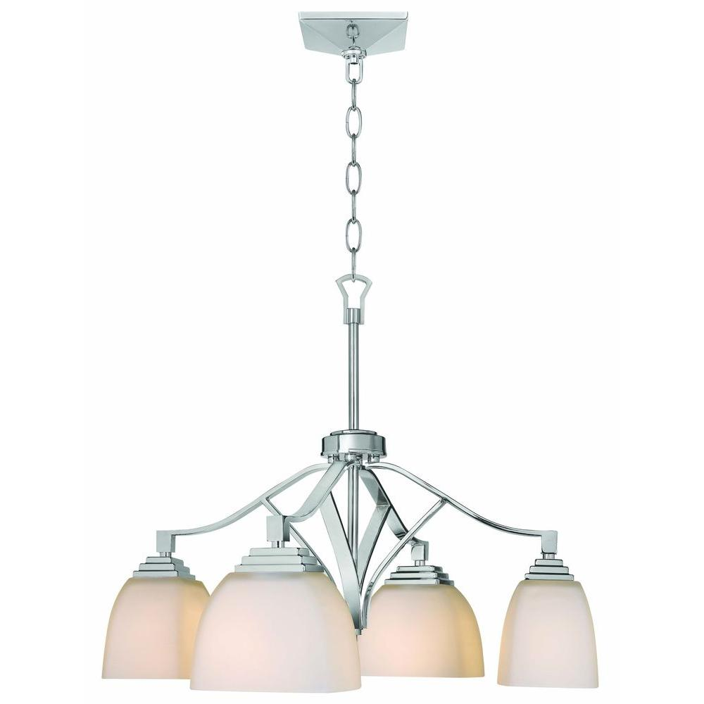 Home Decorators Collection Sydney 4 Light Polished Nickel