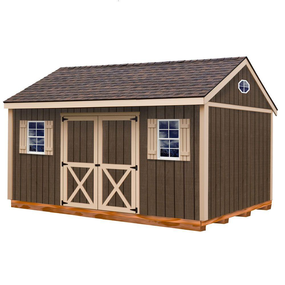 Best Barns Brookfield 16 ft. x 12 ft. Wood Storage Shed Kit with Floor including 4 x 4 Runners