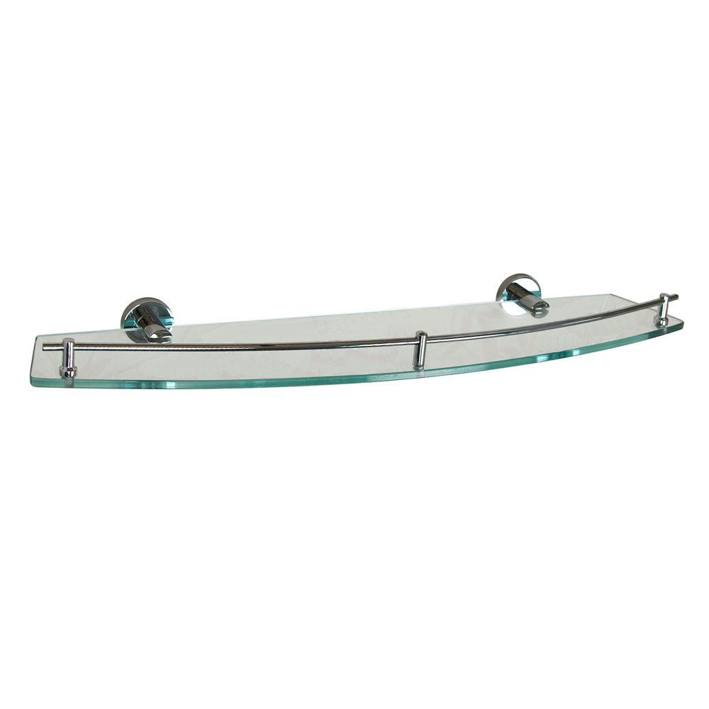 Barclay Products Berlin 24 in. W Shelf in Glass and Polished Chrome