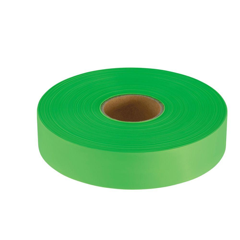 Empire 1 in. x 600 ft. Lime Green Flagging Tape-77-061 -