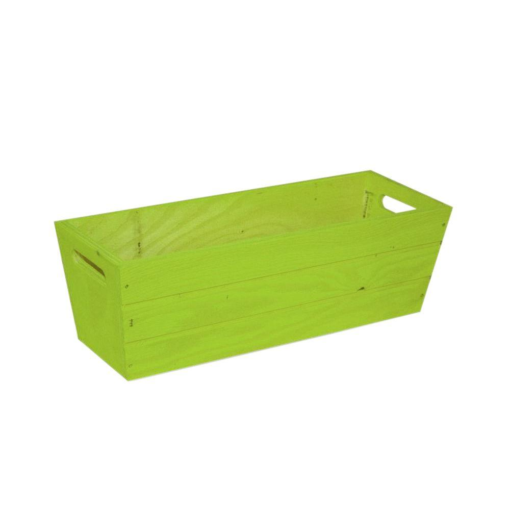 16 in. Patio Wood Planter in Green-PPXG554 - The Home Depot