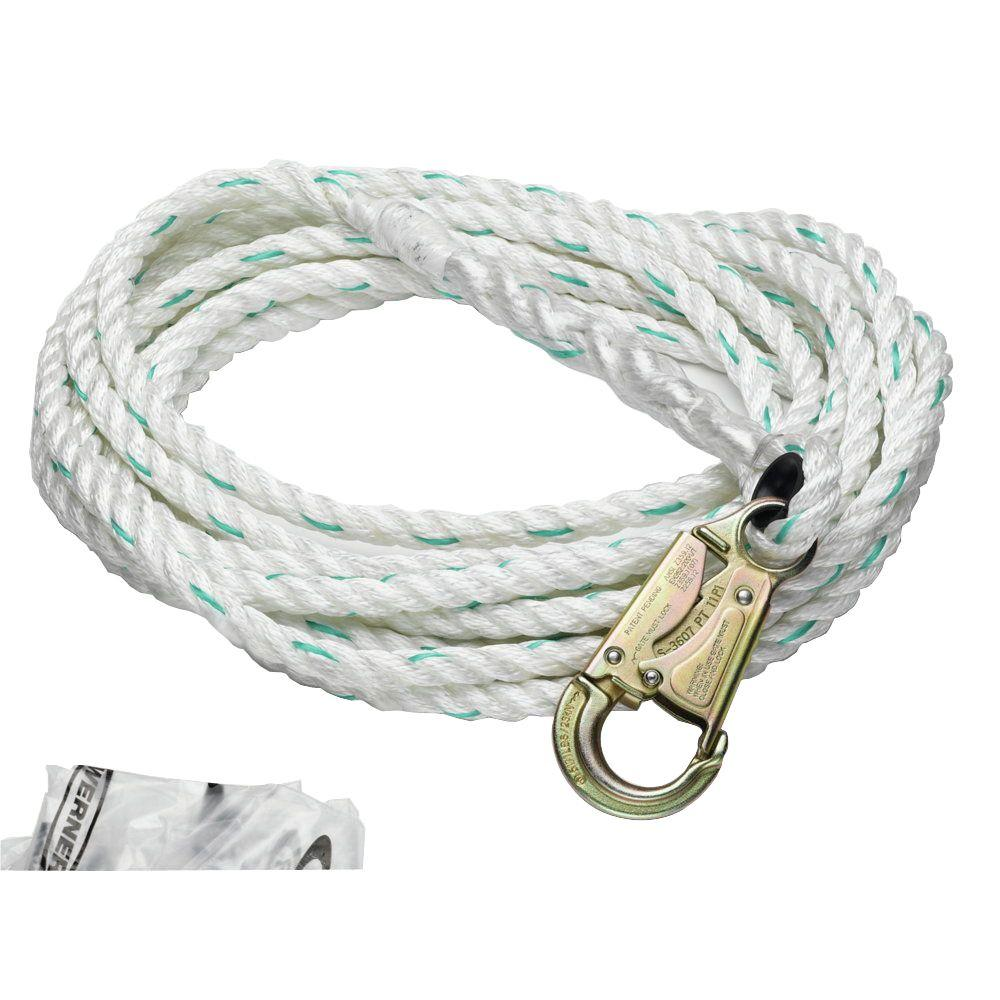 Werner Upgear 100 ft. 5/8 in. Poly-Dac Vertical Lifeline-L201100 - The