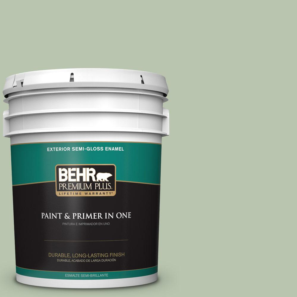 5 gal. #PPU11-10 Whitewater Bay Semi-Gloss Enamel Exterior Paint