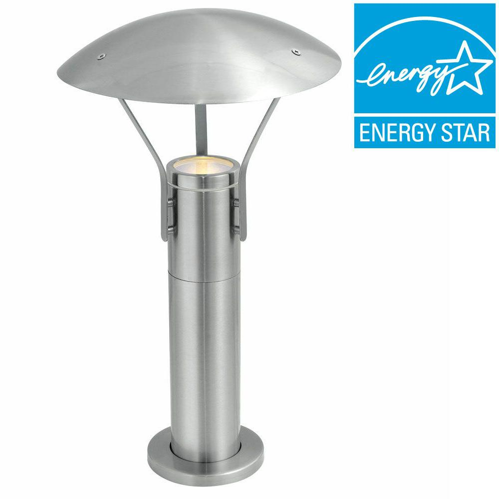 Eglo Roofus 1-Light Outdoor Stainless Steel Post Light-20648A - The Home