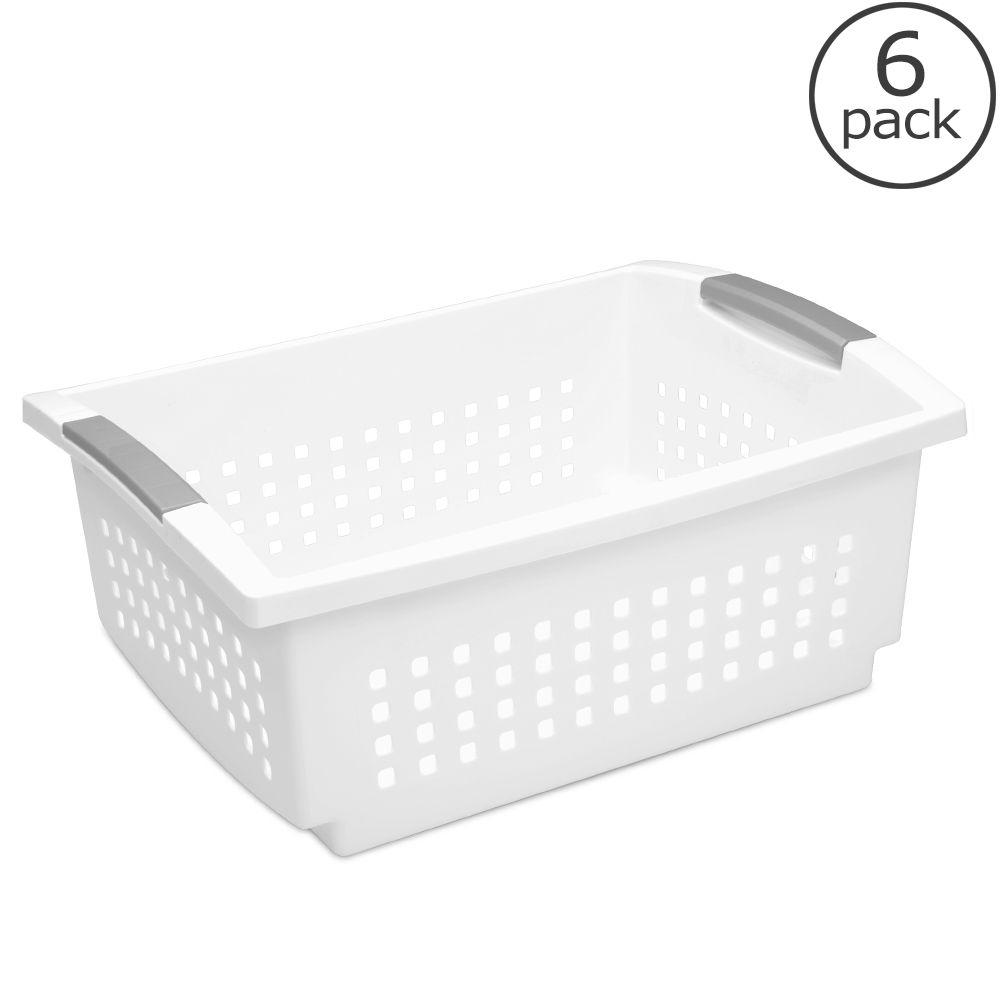 Sterilite Large Stacking Basket (6-Pack)-16648006 - The Home Depot