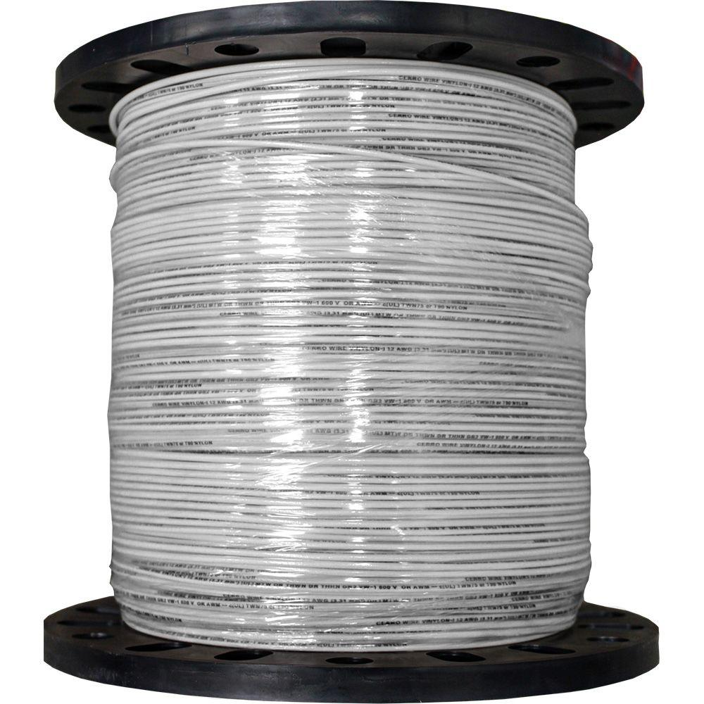 Cerrowire 2500 ft. 12/19 White Stranded THHN Wire-112-3602M - The Home