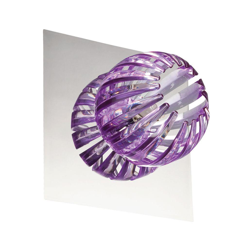 Eurofase Cosmo Collection 1-Light Chrome and Purple Wall Sconce