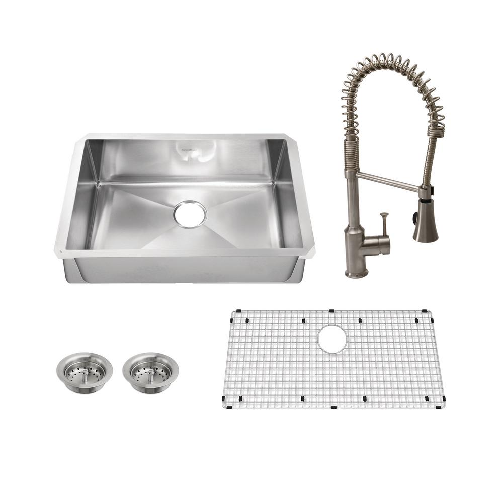 "Pekoe All-in-One Undermount Stainless Steel 35"" Single Bowl Kitchen Sink"