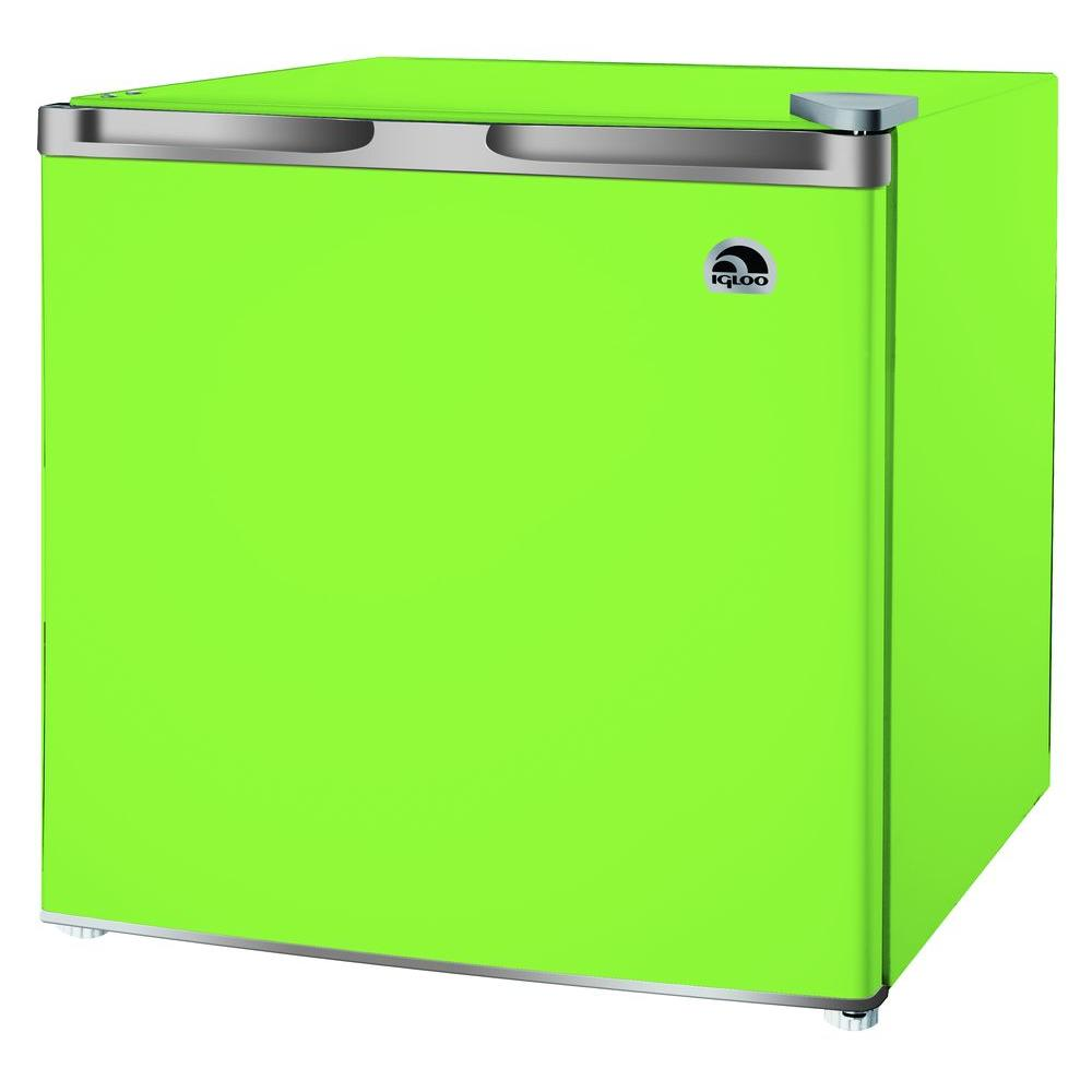 IGLOO 1.6 cu. ft. Mini Refrigerator in Green, Green With Grey Trim