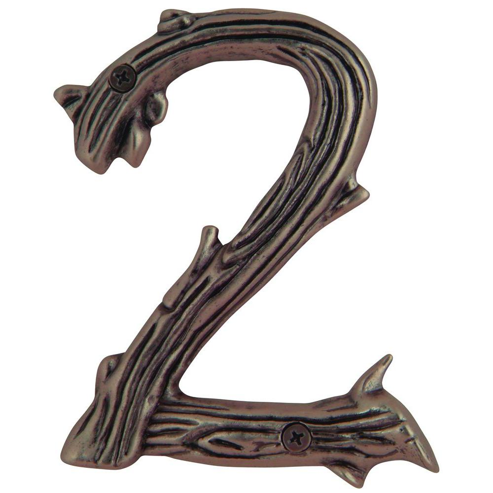 Atlas Homewares Twig Collection 5 in. Copper Number 2