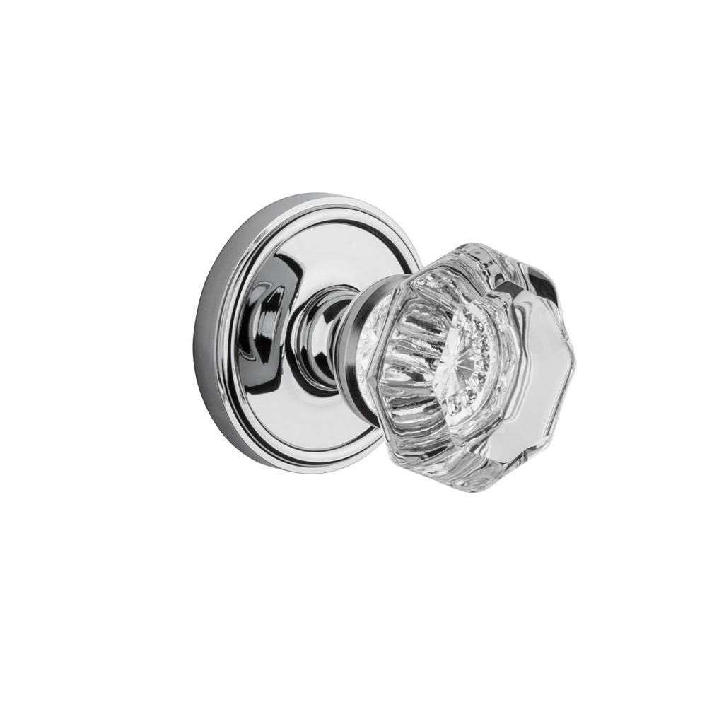 Grandeur Georgetown Rosette Bright Chrome with Double Dummy Chambord